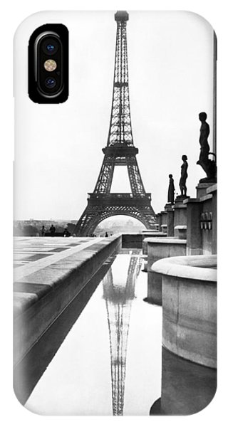 Art And Craft iPhone Case - Eiffel Tower Reflection by Underwood Archives