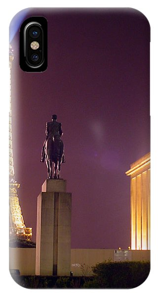 Eiffel Tower With A Monument IPhone Case