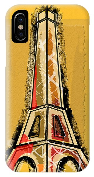Eiffel Tower Yellow And Red IPhone Case
