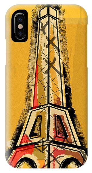 Eiffel Tower Yellow Black And Red IPhone Case