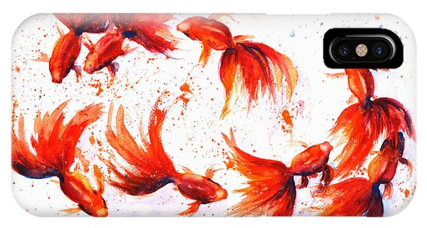 Eight Dancing Goldfish  IPhone Case