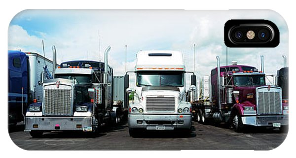 Trucking iPhone Case - Eighteen Wheeler Vehicles On The Road by Panoramic Images