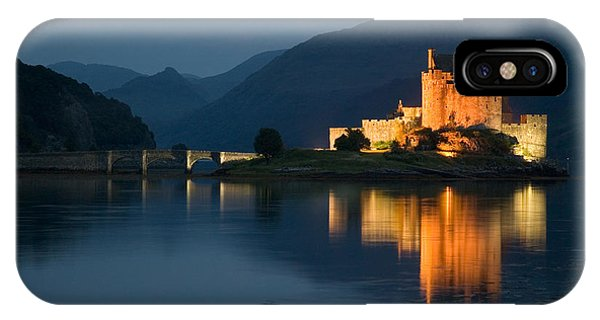 Eilean Donan Castle At Night IPhone Case