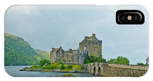 Eilean Donan Castle Textured 2 IPhone Case