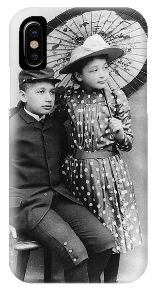 Einstein And His Sister Maja Phone Case by Emilio Segre Visual Archives/american Institute Of Physics