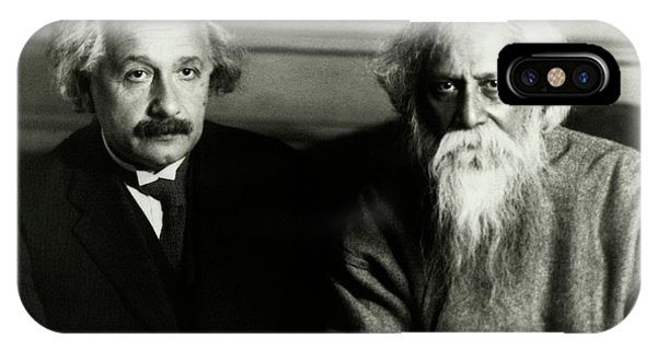 Astrophysical iPhone Case - Einstein And Tagore by Emilio Segre Visual Archives/american Institute Of Physics
