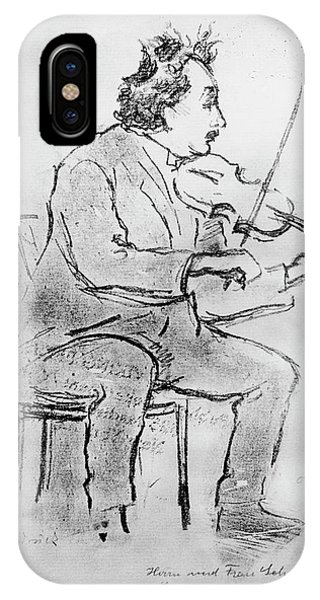 Nobel iPhone Case - Einstein Playing The Violin by Emilio Segre Visual Archives/american Institute Of Physics