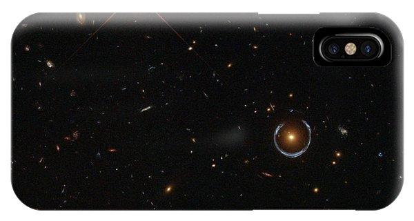 Luminous Body iPhone Case - Einstein Ring Around Lrg 3-757 by Science Source