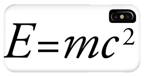 Einstein's Mass-energy Equation Phone Case by Science Photo Library