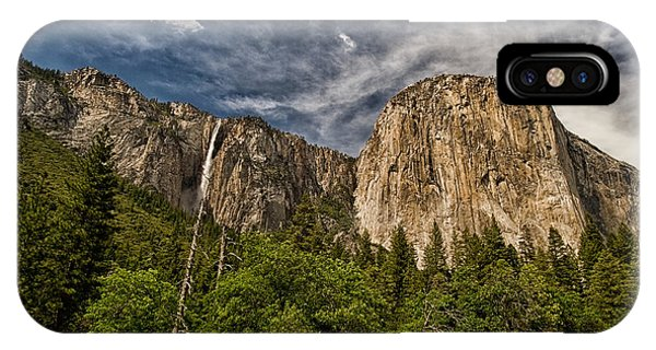 Sierra Nevada iPhone Case - El Capitan And Ribbon Falls by Cat Connor