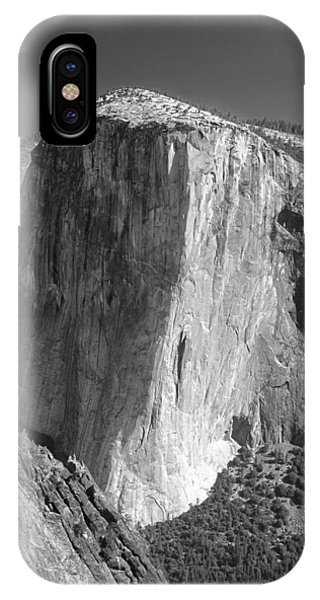 106663-el Capitan From Higher Cathedral Spire, Bw IPhone Case