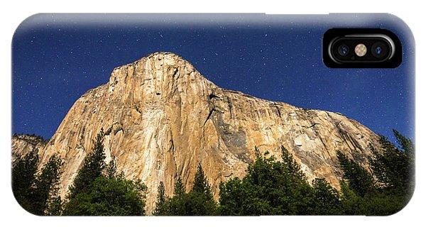 El Capitan Under A Starry Moonlit Night Phone Case by Russ Bishop