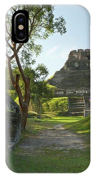Belize iPhone Case - El Castillo Pyramid, Xunantunich by William Sutton