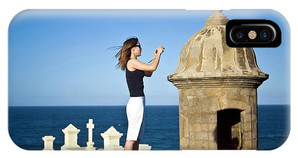 Oceanfront iPhone Case - El Morro Fortress And Church by Miva Stock