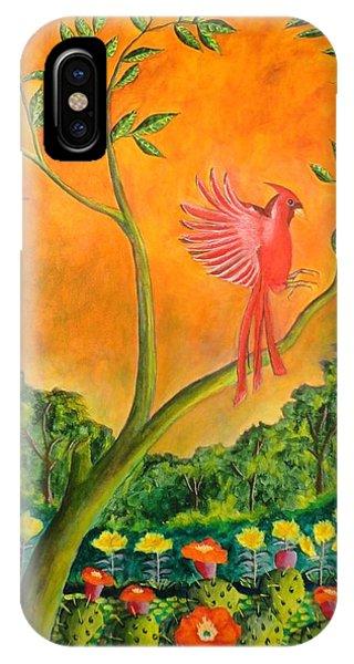 El Pajaro Rojo IPhone Case
