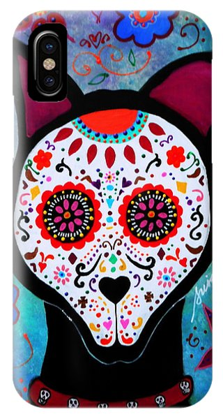 El Perro Day Of The Dead IPhone Case