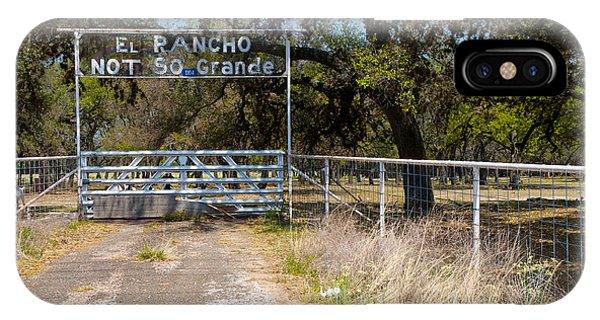 El Rancho Not So Grande IPhone Case
