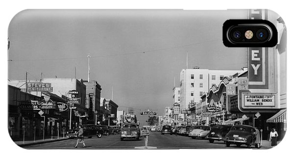 El Rey Theater Main Street Salinas Circa 1950 IPhone Case
