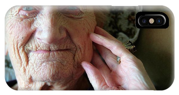 Head And Shoulders iPhone Case - Elderly Woman by Hannah Gal