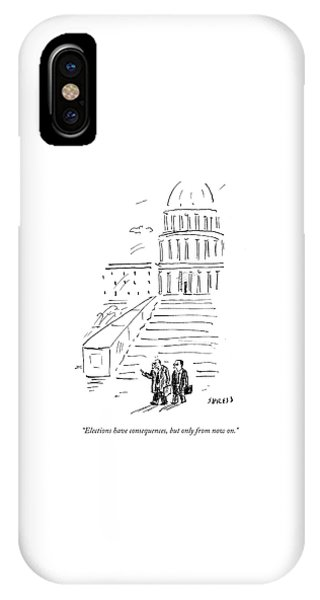 Capitol Building iPhone Case - Elections Have Consequences by David Sipress
