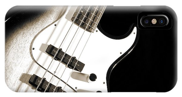 Electric Base Guitar Photograph In Sepia 3322.01 IPhone Case