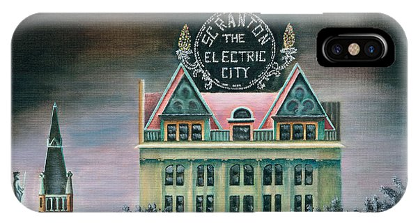 Courthouse iPhone Case - Electric City At Night by Austin Burke