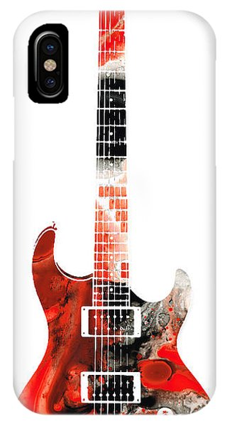 Electric Guitar iPhone Case - Electric Guitar - Buy Colorful Abstract Musical Instrument by Sharon Cummings