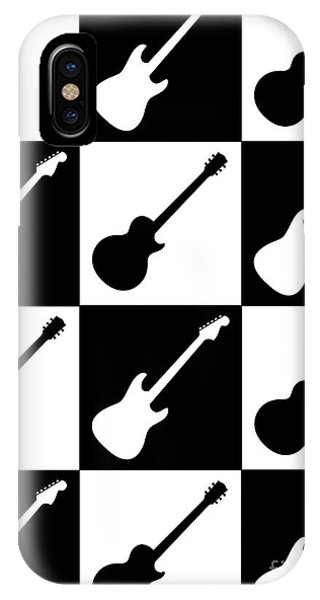 Electric Guitar Checkerboard IPhone Case
