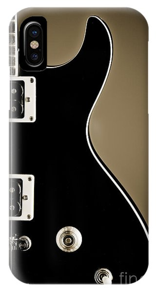 Electric Guitar Photograph In Black And White Sepia 3319.01 IPhone Case