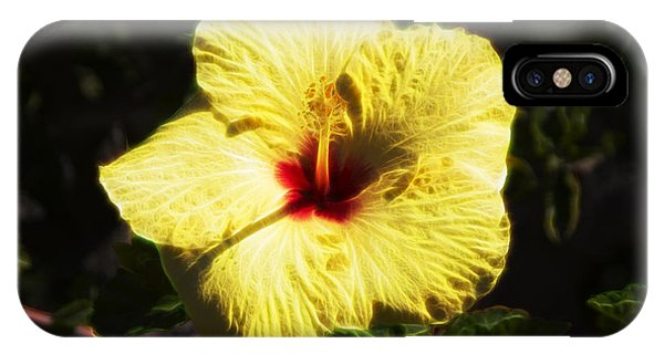 IPhone Case featuring the digital art Electric Hibiscus by Photographic Art by Russel Ray Photos