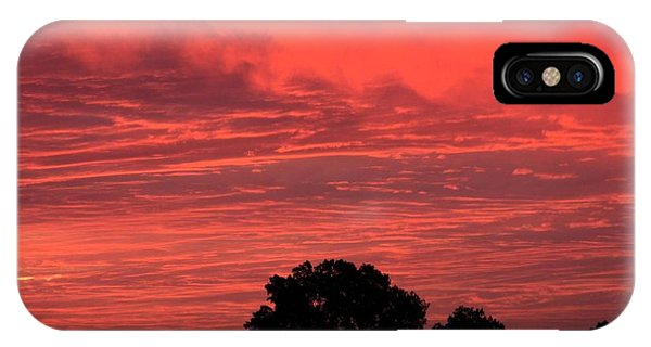 Electric Red IPhone Case