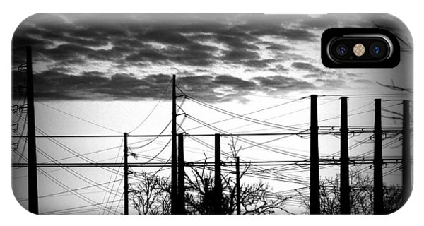 Electric Sunset Two Black And White IPhone Case