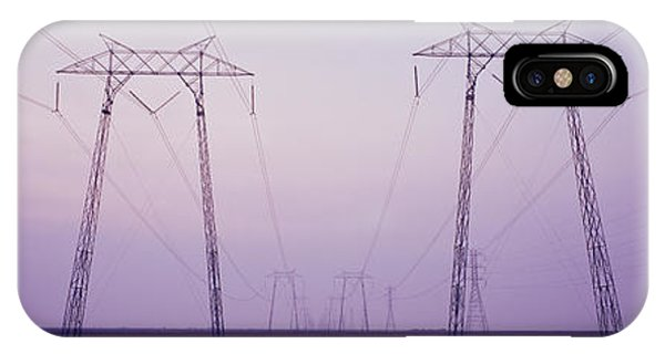 Electric Towers At Sunset, California IPhone Case