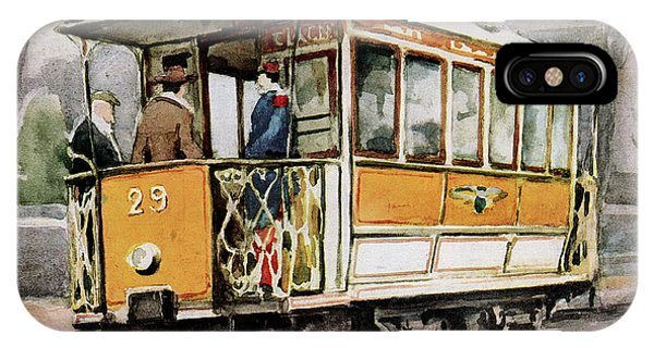 Trolley Car iPhone Case - Electric Tram by Cci Archives
