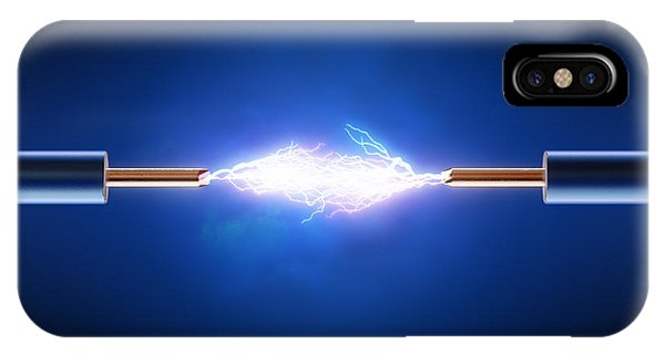 Connections iPhone Case - Electric Current / Energy / Transfer by Johan Swanepoel