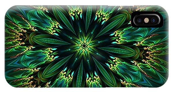 Elegance Green Kaleidoscope IPhone Case