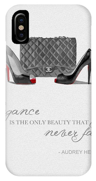 Elegance Never Fades Black And White IPhone Case