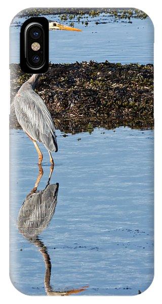 Schooner iPhone Case - Elegant Heron by Kathleen Bishop