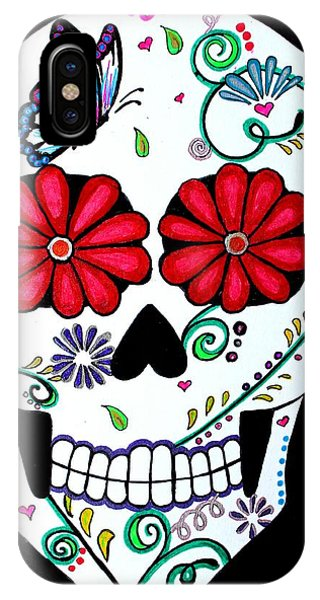 Skull iPhone Case - Elegant Muerte by Brandy Nicole Neal Stenstrom
