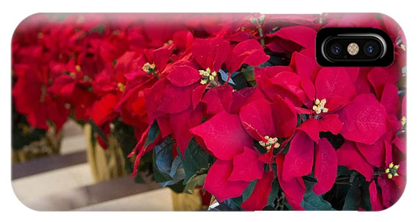 Elegant Poinsettias IPhone Case