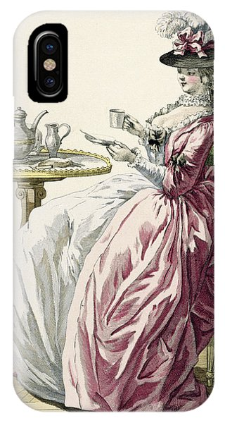 Bone iPhone Case - Elegant Woman In A Dress A Langlaise by Pierre Thomas Le Clerc