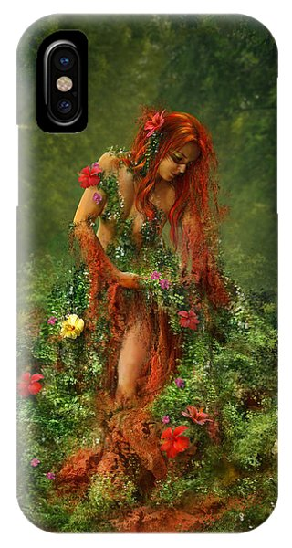Cassiopeiaart iPhone Case - Elements - Earth by Cassiopeia Art