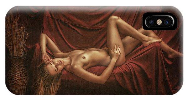 Red Hair iPhone X Case - Elena by Evgeny Loza