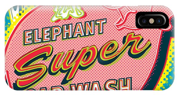 Futuristic iPhone Case - Elephant Car Wash And Space Needle - Seattle by Jim Zahniser