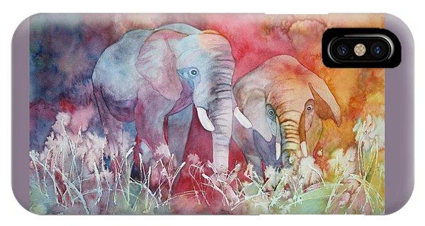 Elephant Duo IPhone Case