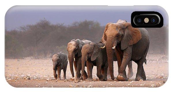 Mammal iPhone Case - Elephant Herd by Johan Swanepoel