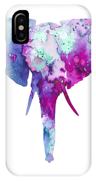 Cute iPhone Case - Elephant  by Watercolor Girl
