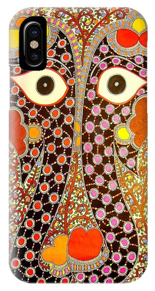 Elephant Pair-madhubani Paintings IPhone Case
