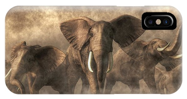 Elephant Stampede IPhone Case