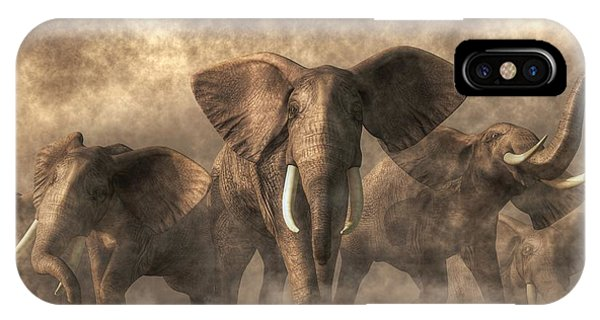 Elephant Stampede IPhone Case